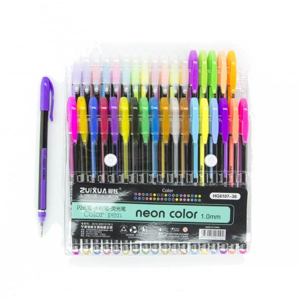 Комплект гел химикалки 36 цвята