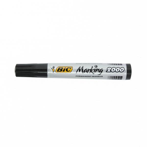 Перманентен маркер Bic 2000 объл връх черен