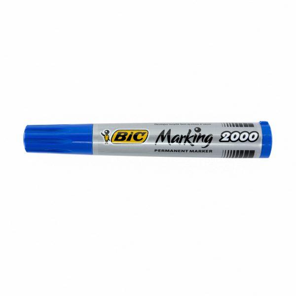 Перманентен маркер Bic 2000 объл връх син