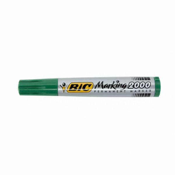Перманентен маркер Bic 2000 объл връх зелен