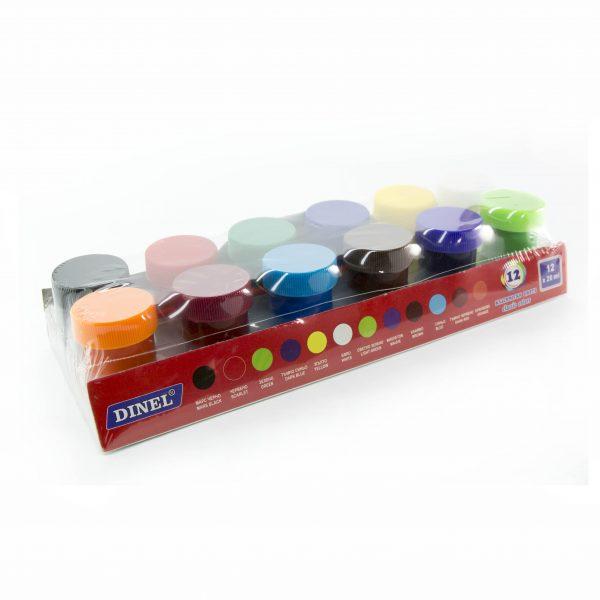 Темперни бои Dinel 12 цвята