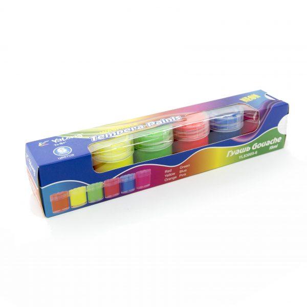 Темперни бои Yalong 6 неонови цвята