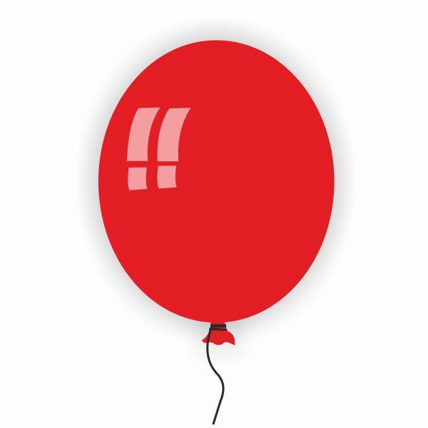 Балон Rocca червен 28