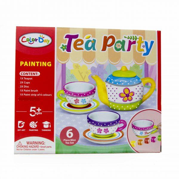 Чаено парти за оцветяване 6 части