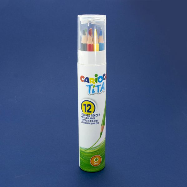 Цветни моливи Carioca Tita в цилиндър 12 цв.