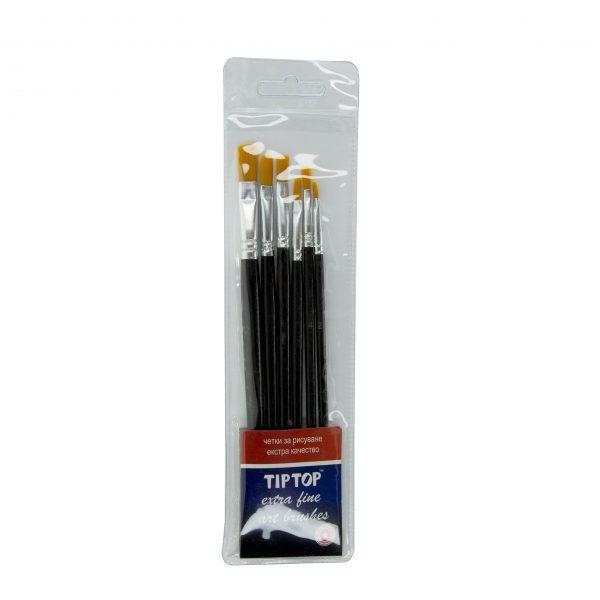 Плоски четки за рисуване комплект 6 бр. Tip Top