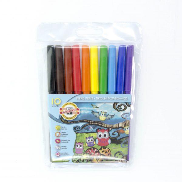 Флумастери Koh-I-noor 10 цвята