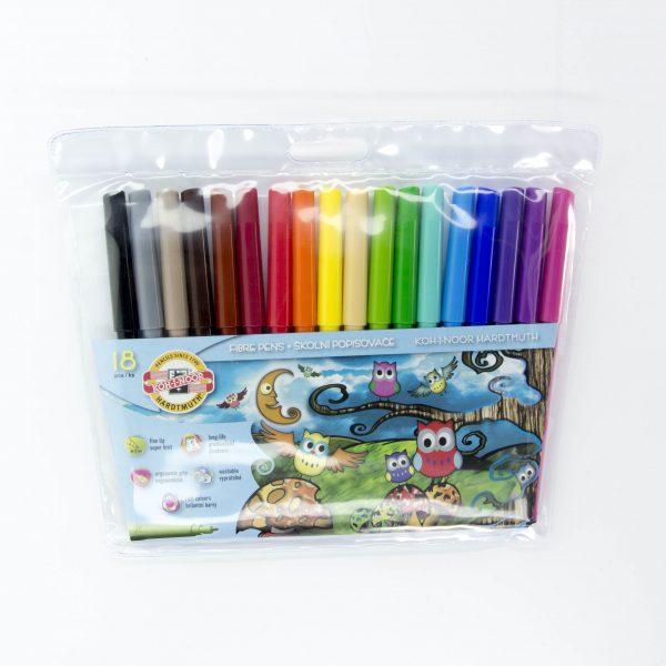 Флумастери Koh-I-noor 18 цвята