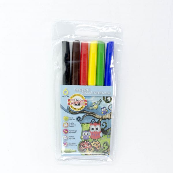 Флумастери Koh-I-noor 6 цвята