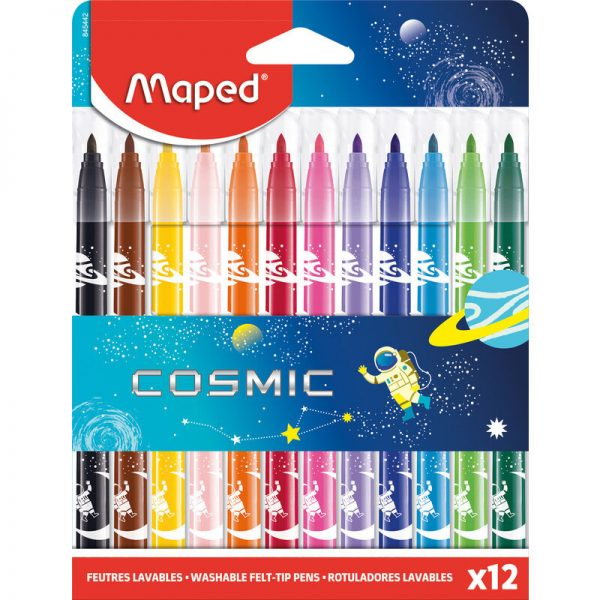 Флумастери Maped Cosmic 12цв