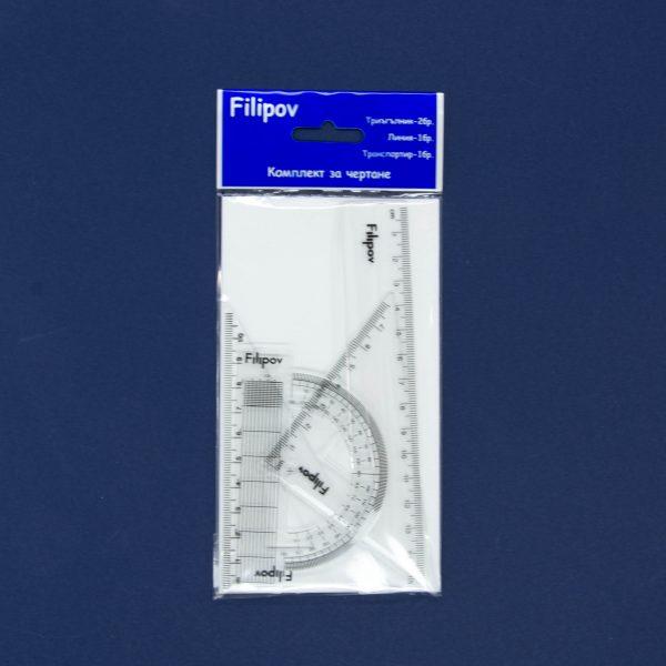 Комплект за чертане 15 см Филипов