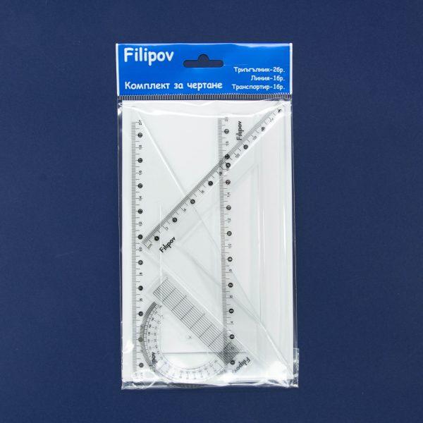 Комплект за чертане 20 см Филипов