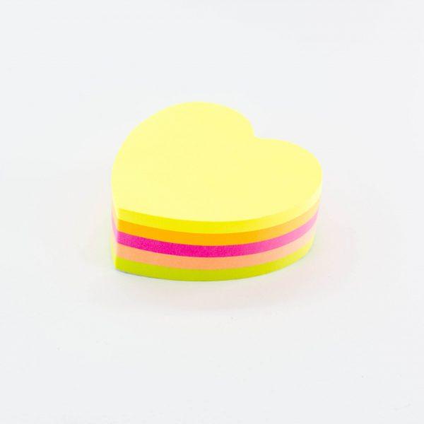 Самозалепващо кубче сърце