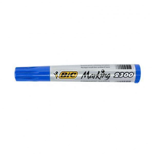 Перманентен маркер Bic 2300 скосен връх син