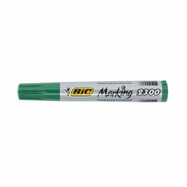 Перманентен маркер Bic 2300 скосен връх зелен