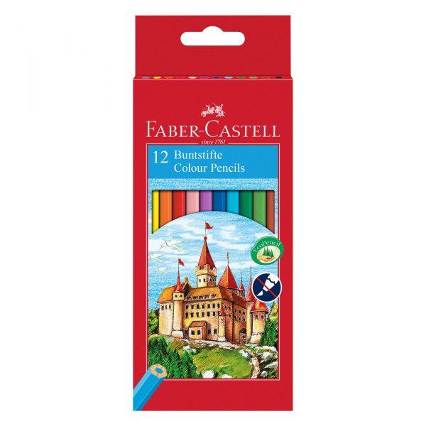 Моливи 12 цвята дълги Faber Castell