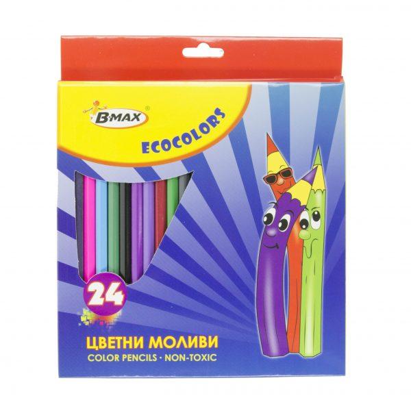 Цветни моливи Bmax 24 цвята