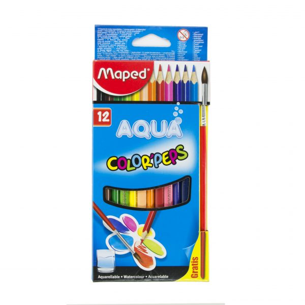 Цветни моливи 12 цвята Maped акварелни