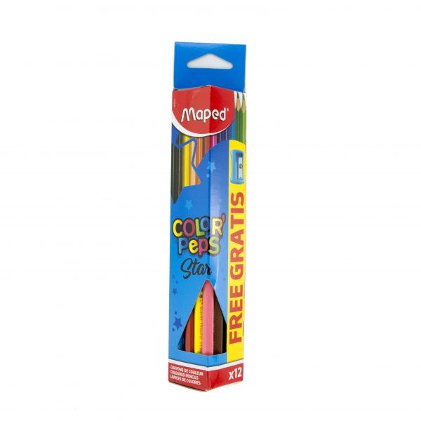 Цветни моливи 12 цвята Maped