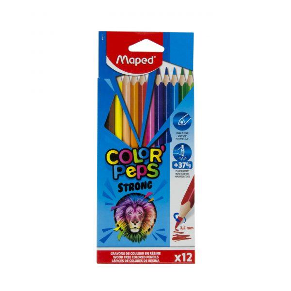Цветни моливи 12 цвята Maped Strong