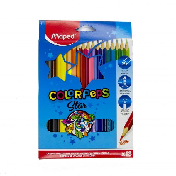 Цветни моливи 18 цвята Maped