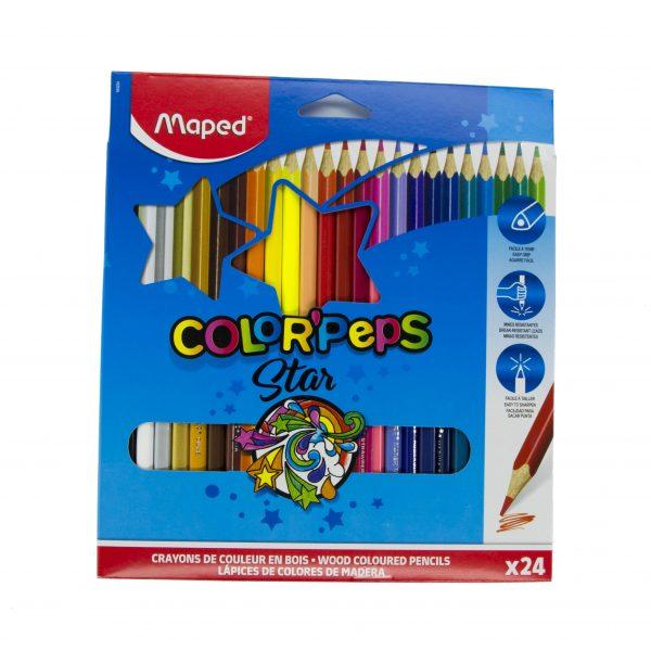 Цветни моливи 24 цвята Maped