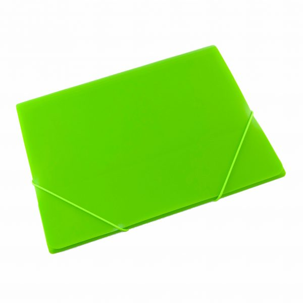 Папка PVC с ластик неон Tiptop зелена