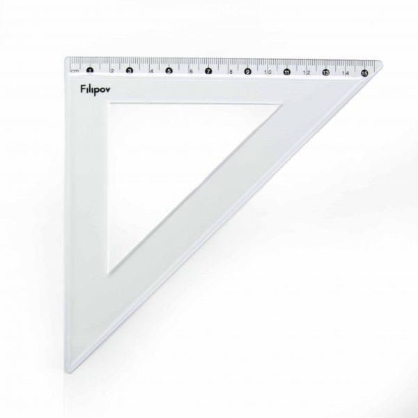 Триъгълник равнобедрен скала 15 см