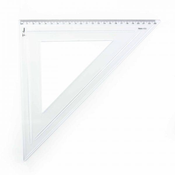 Триъгълник равнобедрен 45 градуса 23 см