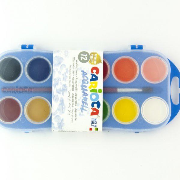 Водни бои 12 цвята Carioca