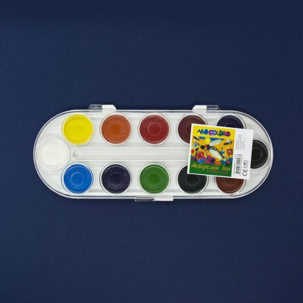 Водни бои 12 цвята Ara colors медови