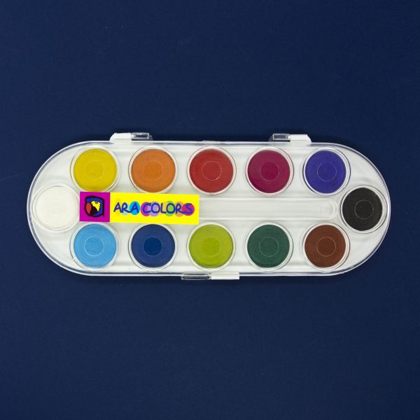 Водни бои 12 цвята Ara colors