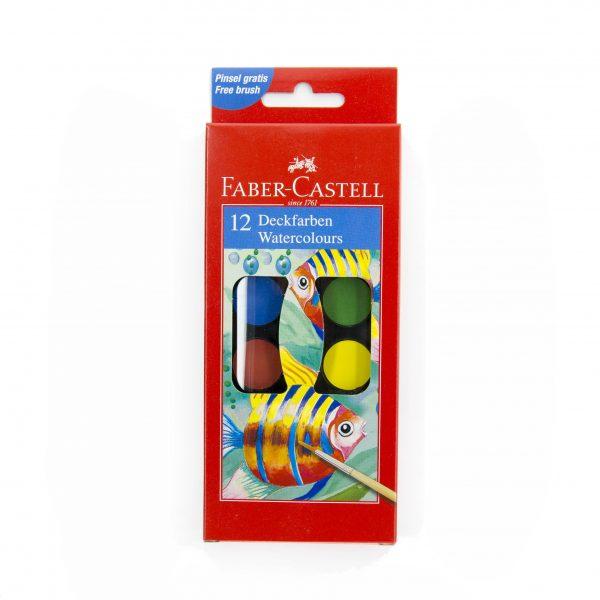 Водни бои Faber Castell 12 цвята малка кутия