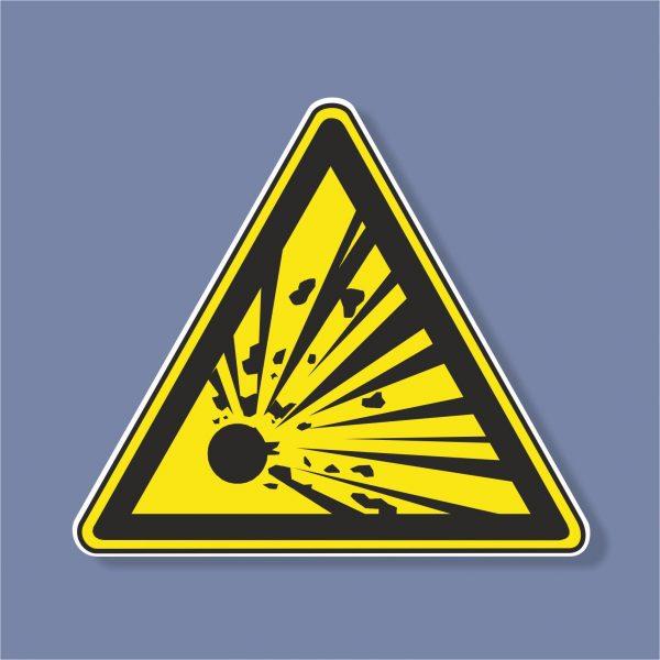 Знак Взривоопасно - 224